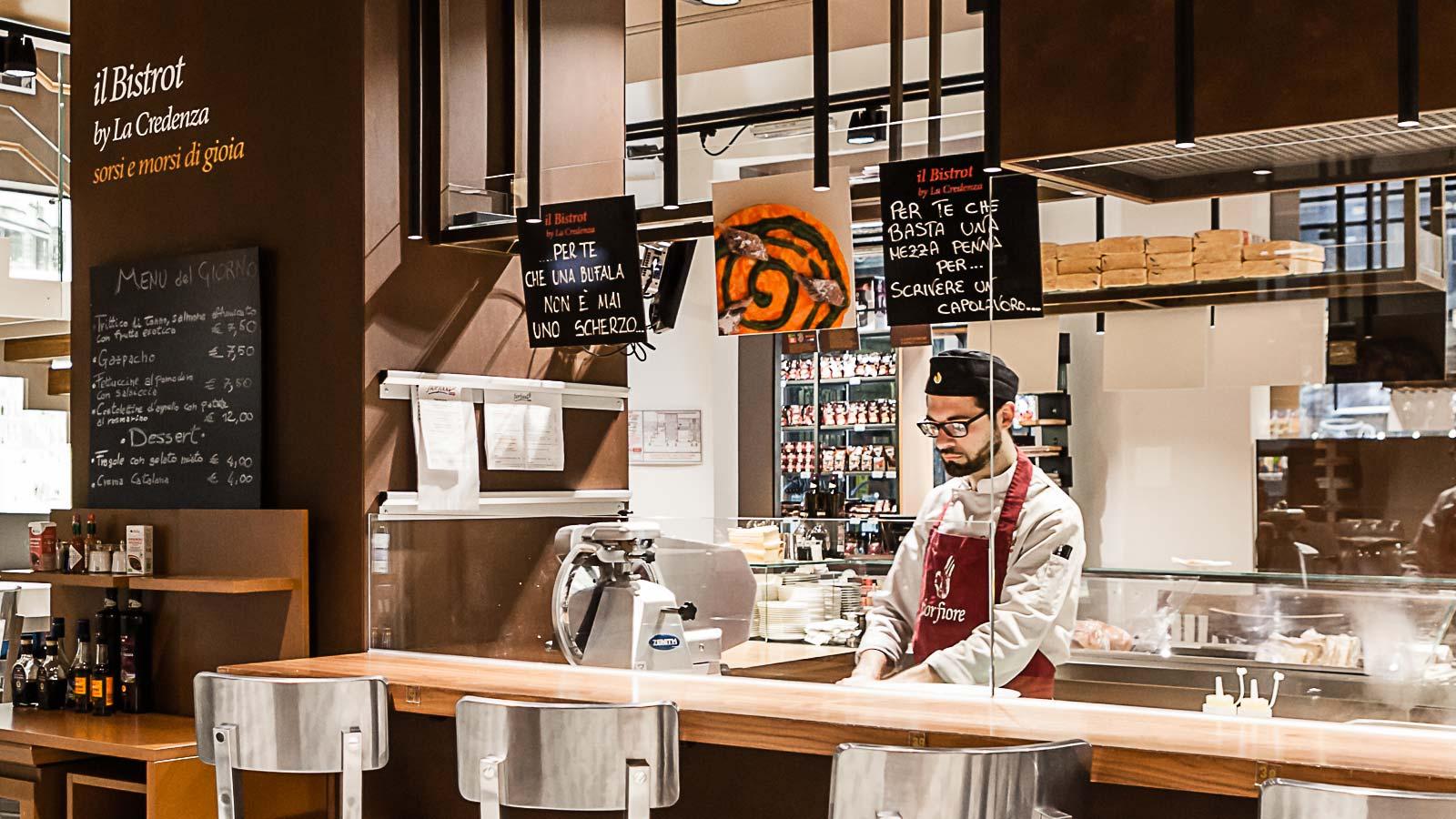 Ristorante La Credenza Galleria San Federico : Fiorfood bistrot osteria e piccolo caffè nel centro di torino